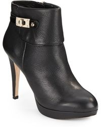 Vince Camuto Signature Evalina Leather Ankle Boots - Lyst