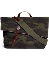Seventy Eight Percent 'Gustav' Camouflage Canvas Messenger Bag - Lyst