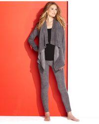 DKNY Cozy Solid Wrap and Stretch Fleece Leggings Pajama Set - Lyst