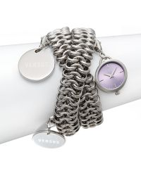 Versus  Soft Stainless Steel Charm Chain Bracelet Watch - Lyst