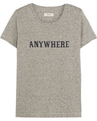 Madewell - Anywhere Printed Hemp And Cotton-blend Jersey T-shirt - Lyst