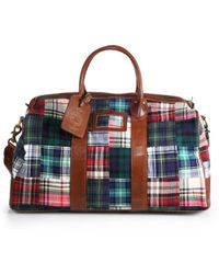 Polo Ralph Lauren - Cotton Madras Duffel Bag - Lyst 36a0a5f1cf