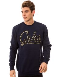 Crooks And Castles The Crks Tiger Camo Crewneck Sweatshirt - Lyst