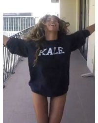 Sub_Urban Riot | Kale Unisex Sweatshirt In Navy As Seen On Beyonce And Rihanna | Lyst