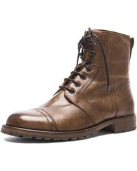 Belstaff Men'S Waxed Leather Dalwood Boots - Lyst