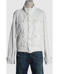 Diesel Denim Outerwear white - Lyst