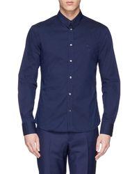 McQ by Alexander McQueen Harness Panel Cotton Blend Poplin Shirt - Lyst