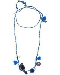 Dosa | Pom Pom Charm Necklace | Lyst
