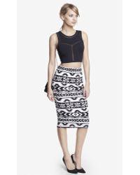 Express - Knit Aztec Print Midi Pencil Skirt - Lyst