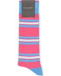 Duchamp Striped Socks - For Men - Lyst