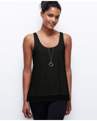 Ann Taylor Layered Crepe Tank - Lyst