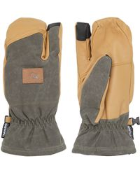 Quiksilver - Leather Snow Trigger Mittens - Lyst
