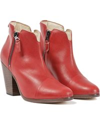 Rag & Bone Margot Leather Zippered Bootie - Lyst