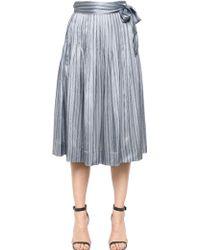 Jill Stuart Striped Silk Maxi Skirt - Lyst