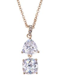 Judith Jack Gold-plated Crystal Double Pendant Necklace - Lyst