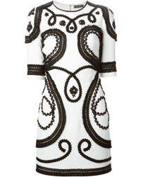 Dolce & Gabbana Embroidered Dress - Lyst
