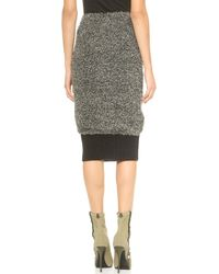 Yigal Azrouel Boucle Pencil Skirt  Heather Grey - Lyst