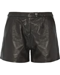 Karl Lagerfeld Eden Leather Shorts - Lyst