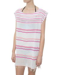 Lemlem Kedame Beehive Cover-Up pink - Lyst