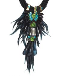 Matthew Williamson Green Tribal Jewel Necklace - Lyst