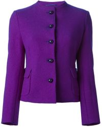 Aspesi Fitted Collarless Jacket - Lyst
