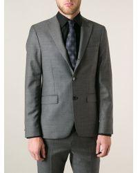 Giorgio Armani Blue Embroidered Tie - Lyst