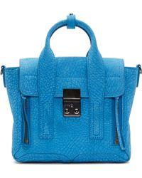 3.1 Phillip Lim Blue Grained Leather Pashli Mini Satchel - Lyst