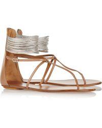 Aquazzura Spin Me Around Leather Sandals - Lyst