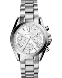 Michael Kors Mini Bradshaw Stainless Steel Watch - Lyst