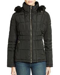 Calvin Klein Zip Front Short Down Jacket - Lyst