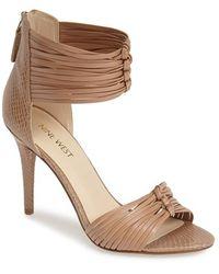 Nine West 'Dechico' Ankle Cuff Sandal - Lyst
