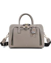 Anya Hindmarch Maxi Zisp Top Handle Eyes Keyfob Bag - Lyst