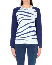 Zoe Karssen Zebra-Print Jersey Sweatshirt - For Women - Lyst