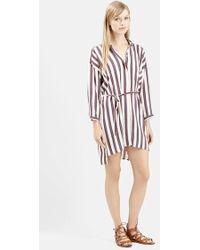 Topshop Stripe Shirtdress brown - Lyst