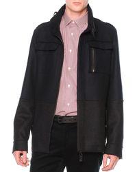 Lanvin Colorblock Wool Field Jacket - Lyst
