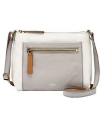 Fossil 'Vickery' Colorblock Leather Crossbody Bag - Lyst