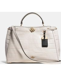 Coach Gramercy Satchel In Croc Embossed Leather - Lyst