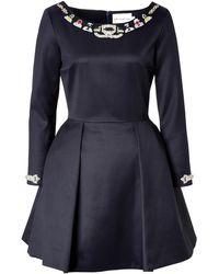 Mary Katrantzou Wool Embellished Copelia Dress - Lyst