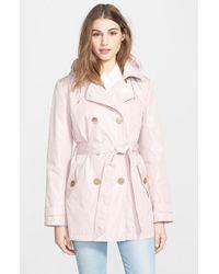Ellen Tracy Women'S Packable Trench Coat With Detachable Hood - Lyst