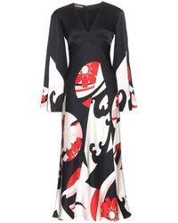 Alexander McQueen Printed Silk Dress - Lyst