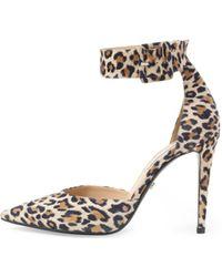 Diane von Furstenberg Buckie Ankle Strap Leopard Pump - Lyst