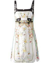 Piccione.piccione Bee And Flower Print Dress - Lyst