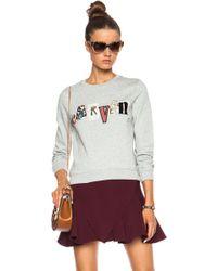 Carven Logo Cotton Blend Sweatshirt - Lyst