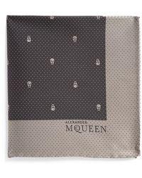 Alexander McQueen Men'S Skull Dot Silk Pocket Square - Black - Lyst