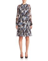 Erdem   Devika Floral Silk Shirtdress   Lyst