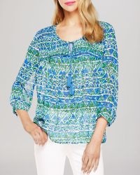 Two By Vince Camuto - Batik Shapes Peasant Blouse - Lyst