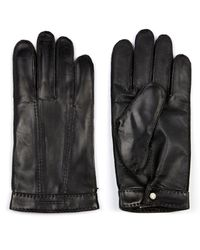 Burberry - Tech-Touch Leather Gloves - Lyst