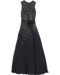 Rebecca Taylor Black Beaded Gown - Lyst