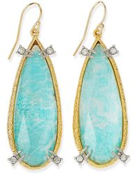 Alexis Bittar Amazonite Crystal Teardrop Earrings - Lyst