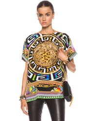 Versace Cheetah and Medusa Print Tee - Lyst